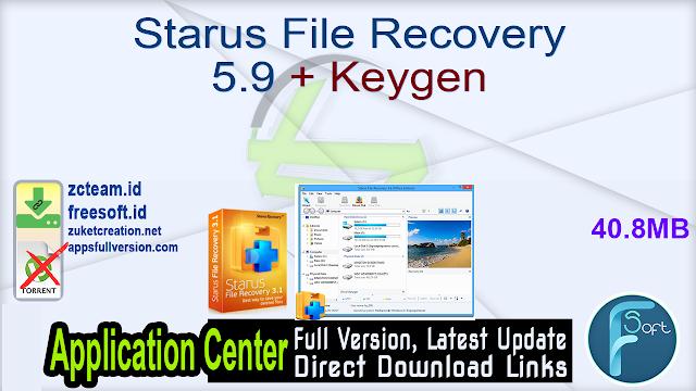 Starus File Recovery 5.9 + Keygen_ ZcTeam.id