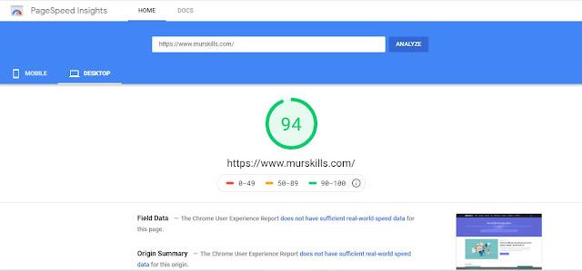 Page Speed Insights-murskills.com