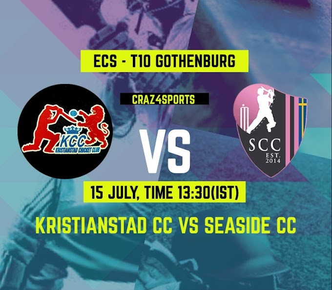 KSS VS SSD Dream11 prediction, Kristianstad CC Vs Seaside CC, Dream11 ECS T10 Gothenburg,Top picks, Players stats, Pitch Report, Dream Team