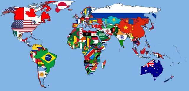 Peta bendera dunia
