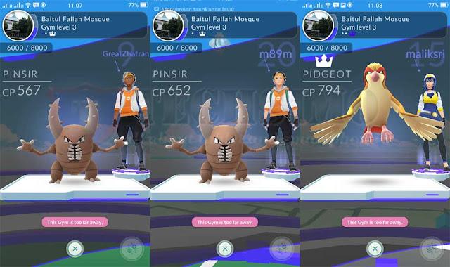 Tips Pokemo Go part 3: cara bertarung dan mengetahui semua menu di Gym