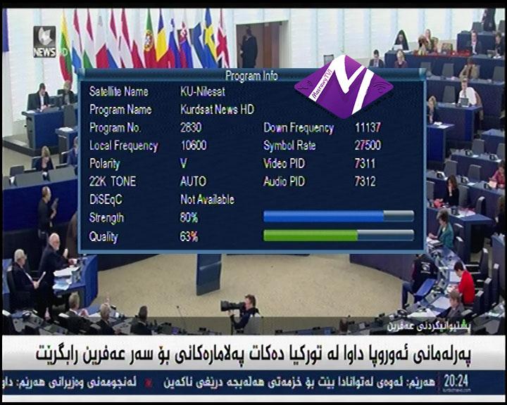 تردد قناه kurdsat News HD على قمر النايل سات 2018 / 2019