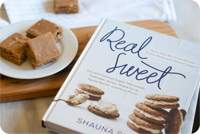 Iced Muscovado Caramel-Nut Blondies : Real Sweet by Shauna Sever