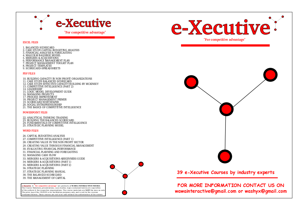 Leadership By Design: e-Xecutive Self Training CD- For