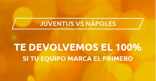 Mondobets promo Juventus vs Nápoles 4-10-2020