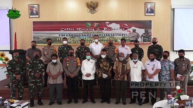 Tim Gabungan Pencari Fakta (TGPF) Kasus Intan Jaya Temui Paulus Waterpauw dan Herman Asaribab