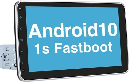 Vanku 10.1 Single Din Android 10 Car Stereo
