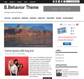 B.Behavior Blogger Template