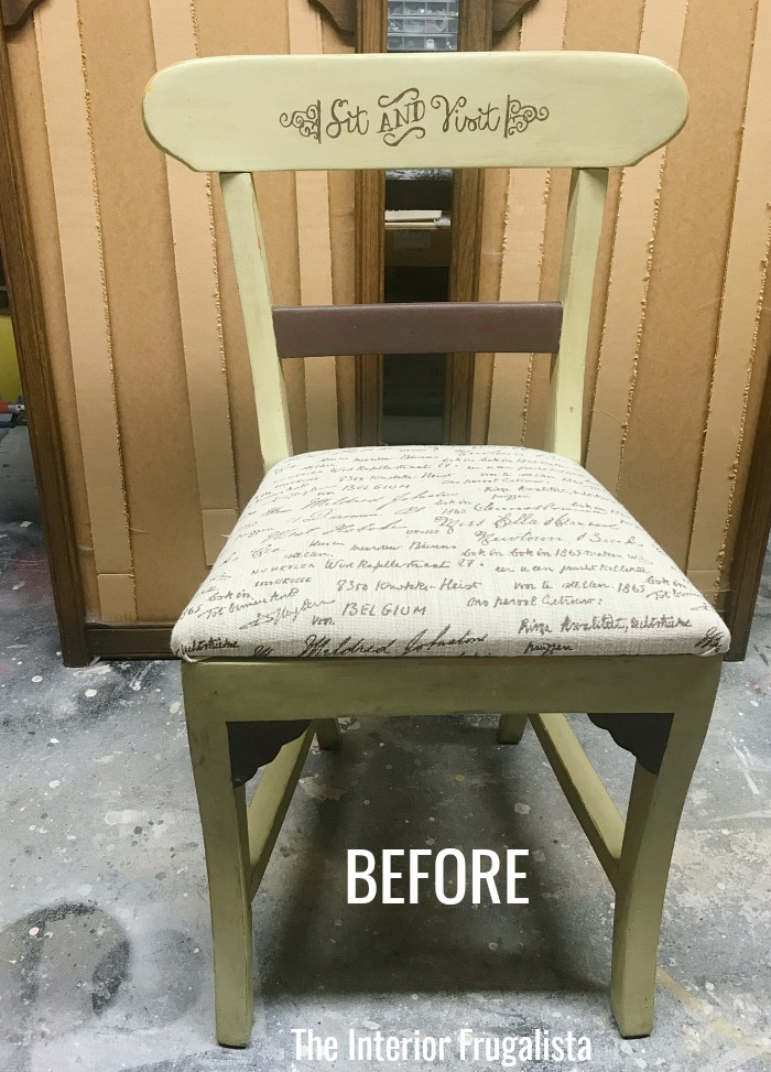 Raised Stencil Tutorial Chair Before
