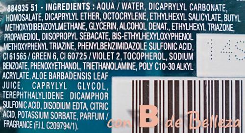 Composición UV water Agua Garnier