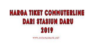 Harga Tiket Commuterline Dari Stasiun Daru Terbaru 2019