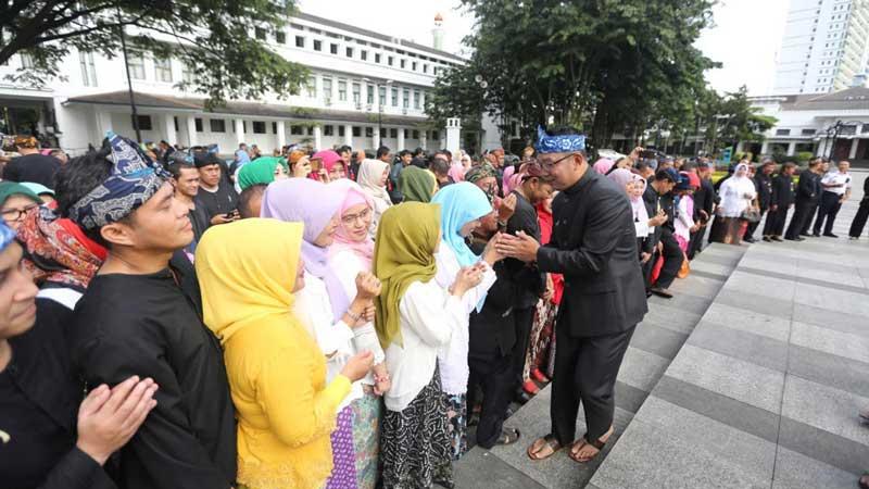 Jelang Cuti Kampanye, Emil dan Oded Pamit kepada ASN Pemkot Bandung