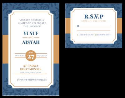 contoh undangan pernikahan dalam bahasa inggris dengan rsvp