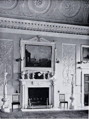 The Great Drawing Room now the Dining Room,  Bowood House from The Architecture of   Robert and James Adam by AT Bolton (1922)