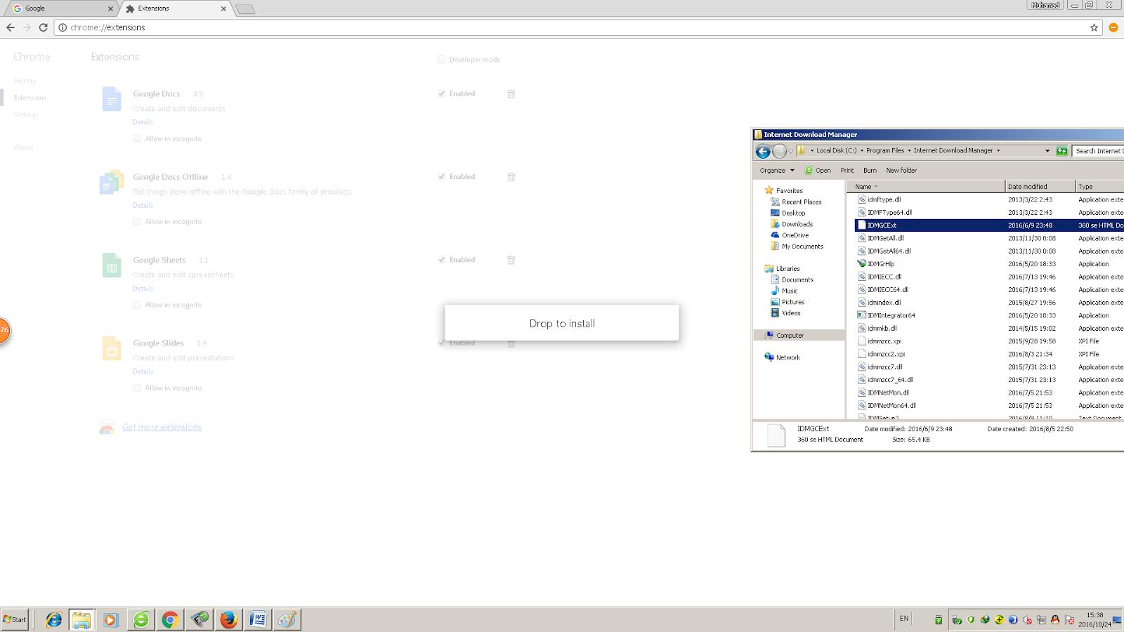 Cara Menambahkan internet download manager pada Extensions