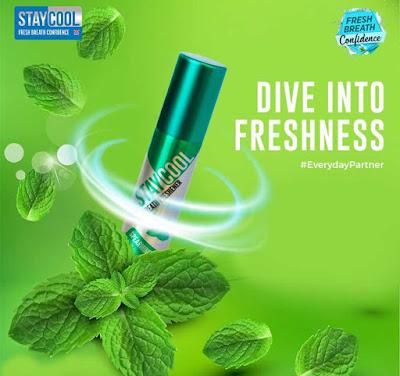 Xịt thơm miệng Staycool, giảm hôi miệng, cho hơi thở thơm mát