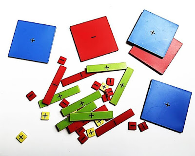 This post shows how to use algebra tiles to demonstrate polynomial multiplication. Two different examples are shown through photos of the algebra tiles of multiplying polynomials.