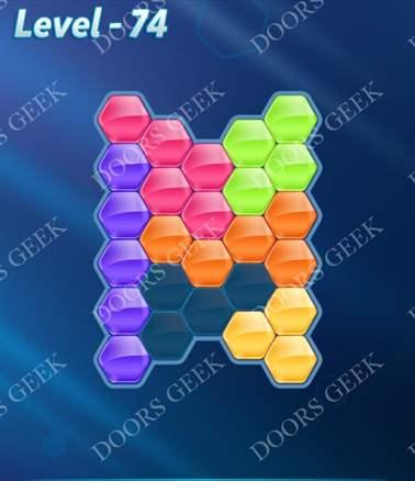 Block! Hexa Puzzle [Intermediate] Level 74 Solution, Cheats, Walkthrough for android, iphone, ipad, ipod