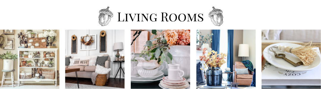 fall living rooms collage