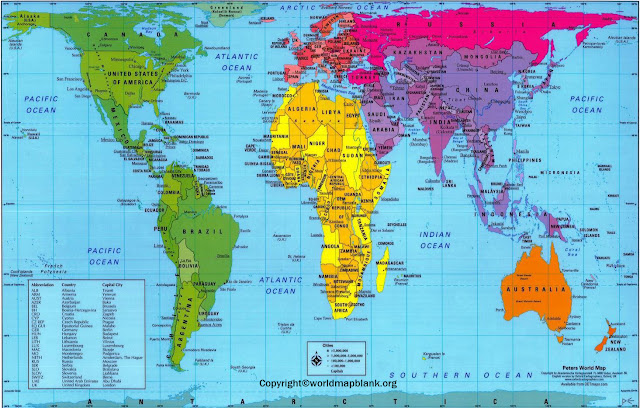 Accurate Map of World Labeled