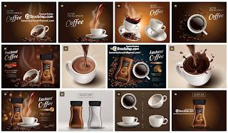Ly cafe miễn phí vector