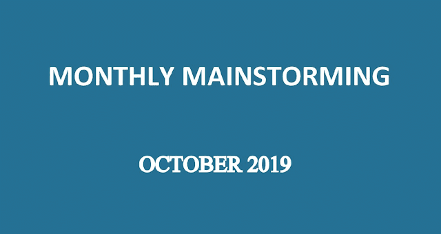 UPSC Mainstorming - October 2019