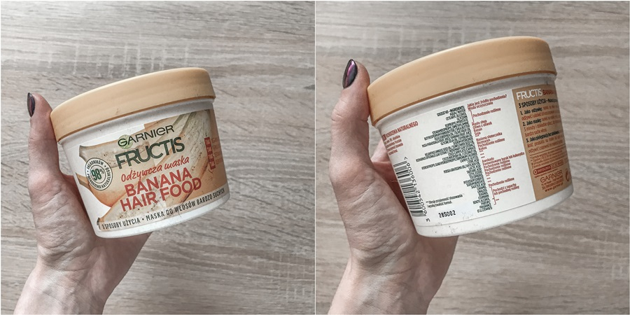 Garnier fructis banana hairfood odżywcza maska do włosów