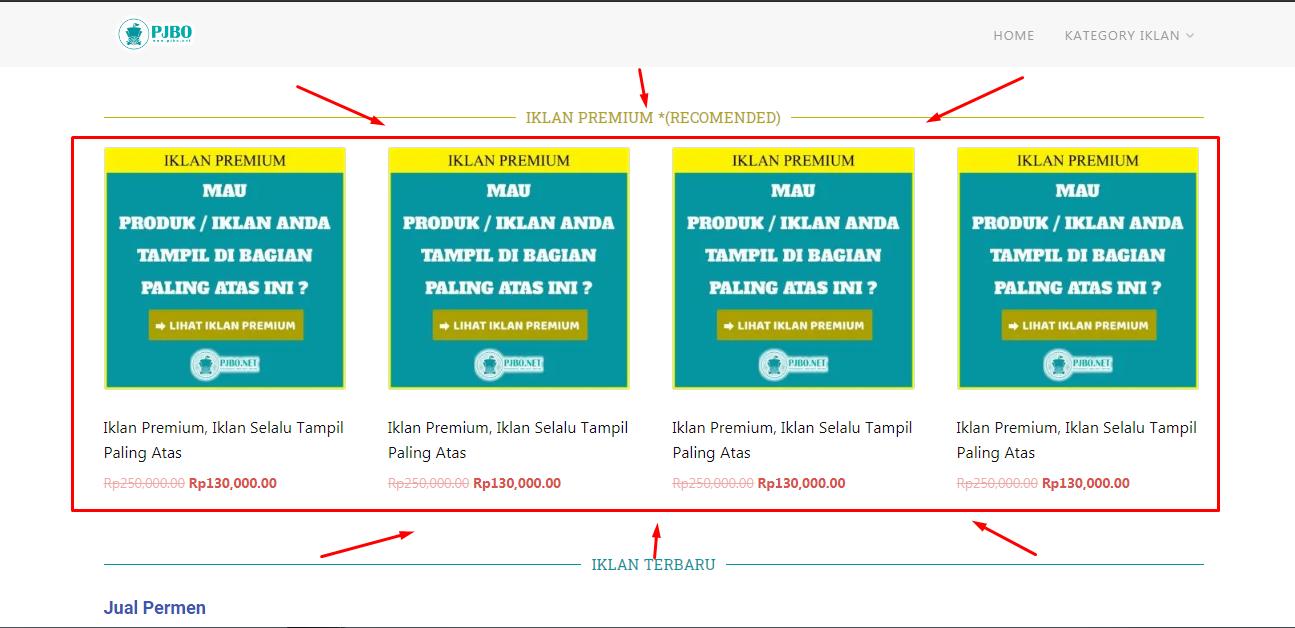 Iklan Premium PJBO