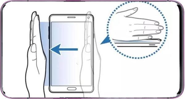 Cara Screenshot Samsung A30S Menggunakan Sensor