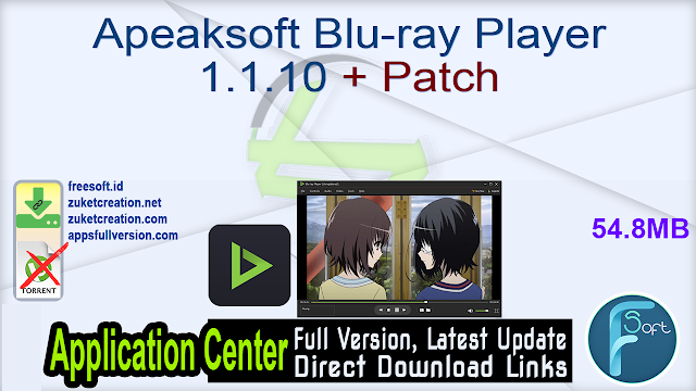 Apeaksoft Blu-ray Player 1.1.10 + Patch
