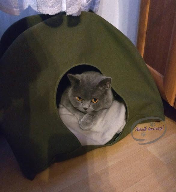 Adzik tworzy - diy namiot tipi dla kota