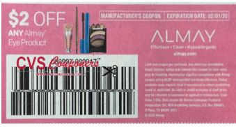 "$3.00/2 Almay Makeup Remover Coupon from ""RetailMeNot"" insert week of 1/5/20."