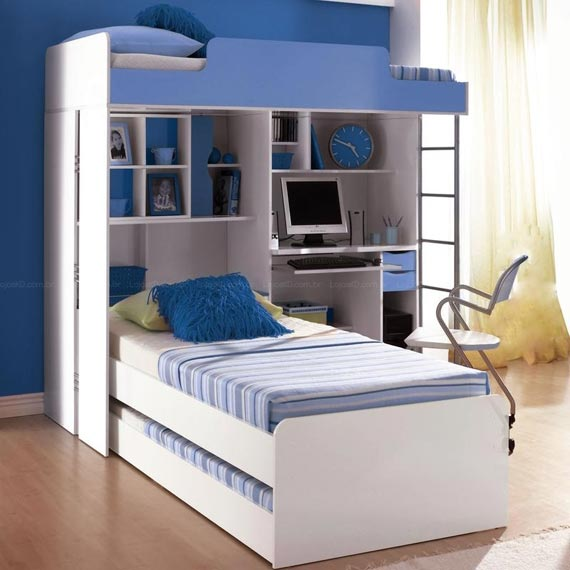 DORMITORIO PARA 3 CAMAS TRIPLES BEDROOMS FOR 3 ~ Quarto Planejado Com Tres Camas