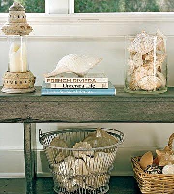 book decor on sidetable