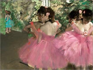 COMBINAZIONI ARTISTICHE CON COLORI PASTELLO BLOG ARTISTAH24 - EDGAR DEGAS Le ballerine con il tutù rosa