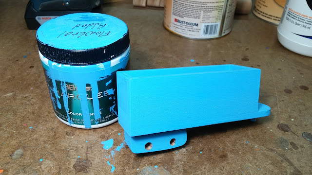 2017-05-08 18.38.06 - Wooden Toy - Play Pal - Trailer - Truck - Blue - Behr - Paint - Acrylic