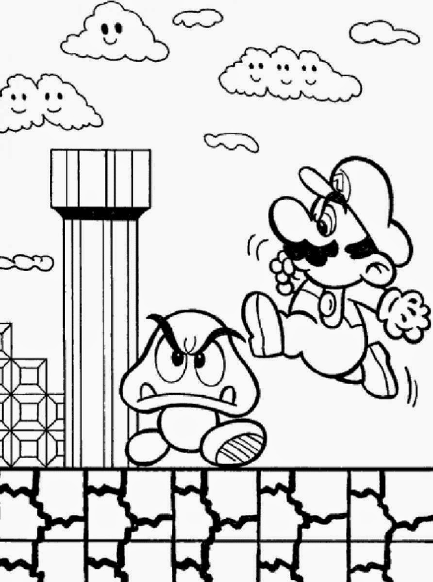 mario brothers coloring pages - coloring pages mario coloring pages free and printable