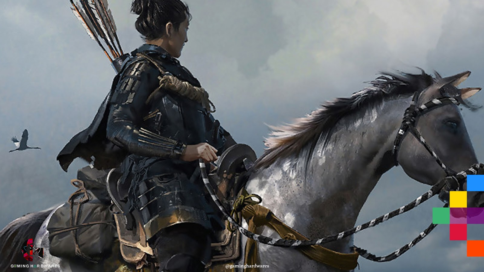 لعبة شبح تسوشيما البحث عن الحصان