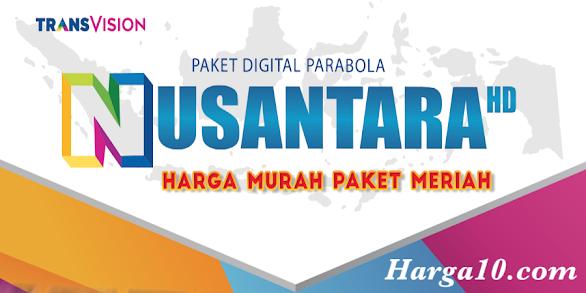 Daftar Harga Paket dan Siaran Transvision Nusantara