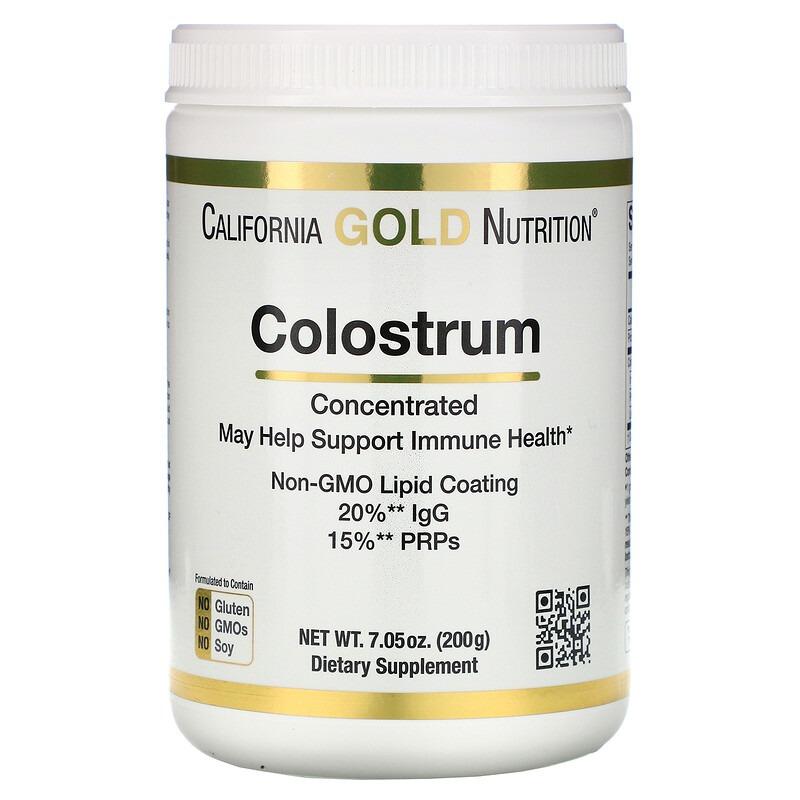 California Gold Nutrition, Концентрированное молозиво в порошке, 200 г (7,05 унций)