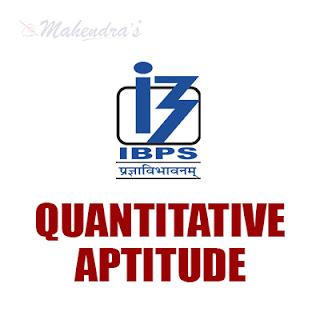 Quantitative Aptitude Questions For IBPS Clerk Prelims : 25 - 11 - 17