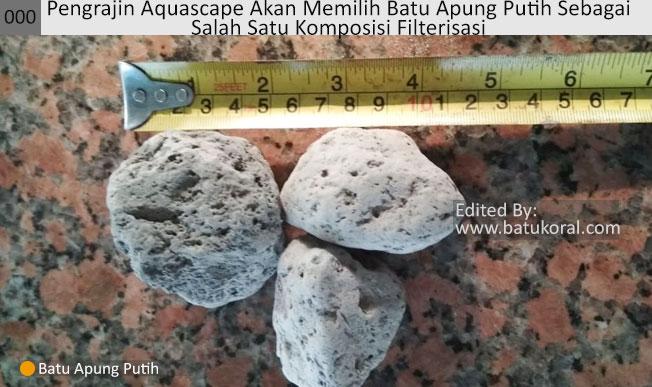 jual batu apung putih skala rumahan