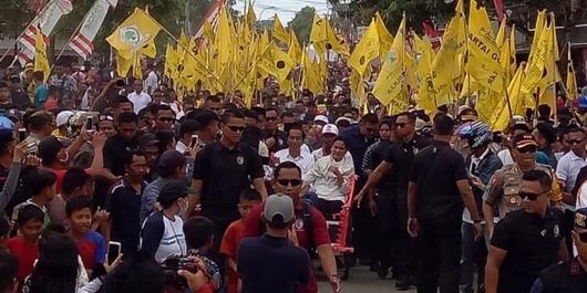 Kampanye di Sulbar, Jokowi Janjikan Pembangunan Jalan Rampung