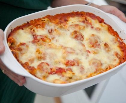 Gratin of Italian ravioli