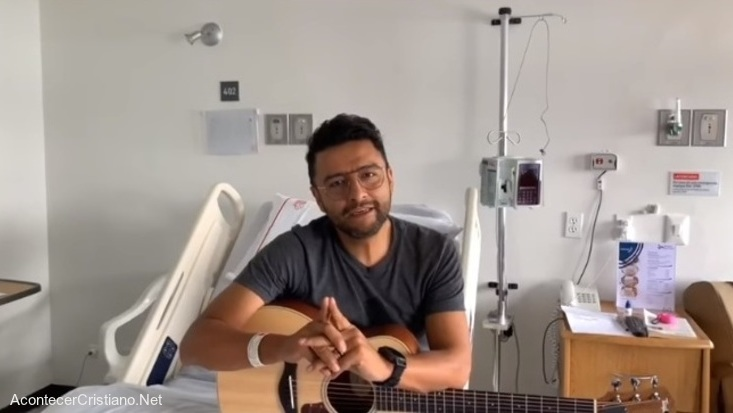 Alex Campos en el hospital