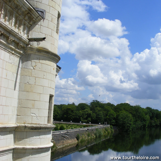 View from a balcony at the Chateau of Chenonceau, Indre et Loire, France. Photo by Loire Valley Time Travel.