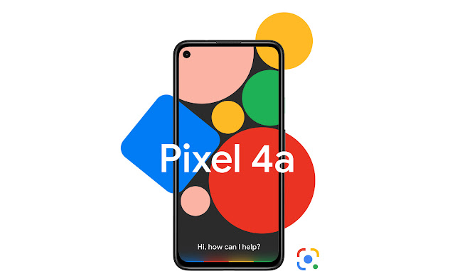"""Pixel 4a with text """"Hi, how can I help?"""""""