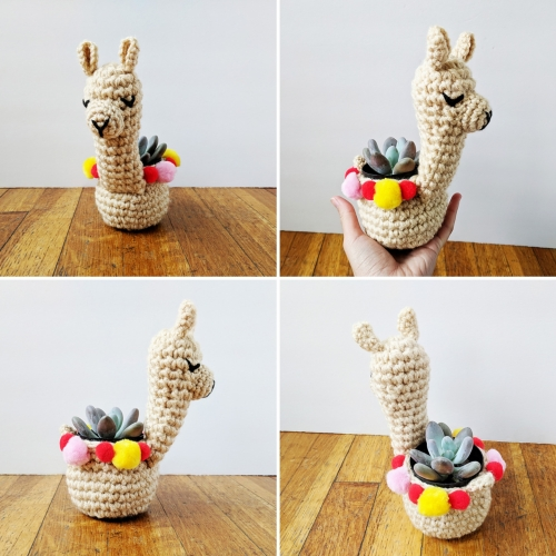 Llama Mini Planter - Crochet Pattern