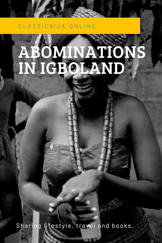 ABOMINATIONS  AND TABOOS IN IGBOLAND - ARU