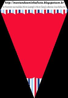 Banderines de Náutico para imprimir gratis.